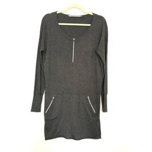 Athleta Dresses - Athleta | Azalia Zip Dress Gray | XS